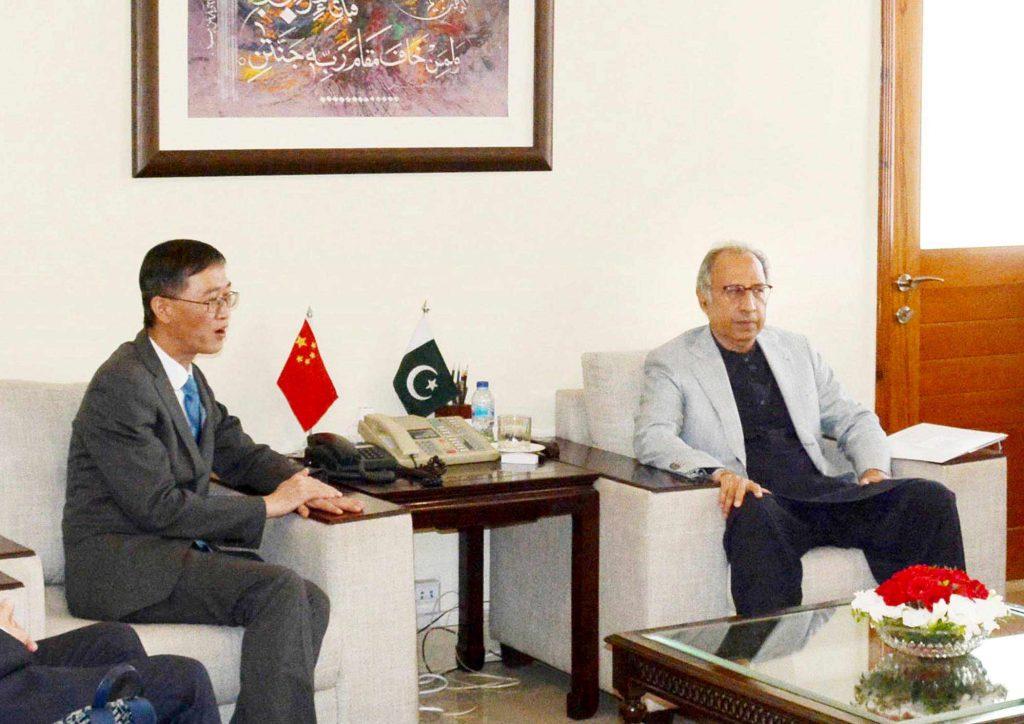 hafeez sheikh met chinese ambassador